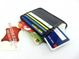 Veliki crni držač za kartice i novac (Big Black Leather Card Holder)