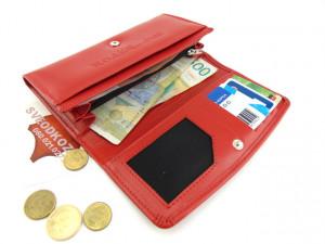 Ženski kožni novčanik 1 crveni klasik