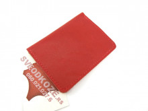 Crvena kožna futrola za kartice