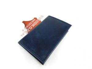 Kožna futrola za kartice sa 6 mesta plava