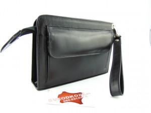 Kožna torba Elegant crna