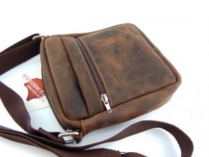 Kožna torbica sveodkože braon brušena