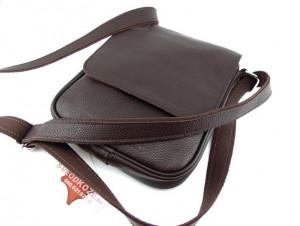 Muška kožna torbica 112 tamno braon reljef