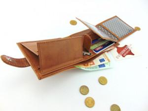 Veliki kožni novčanik KING klasik braon