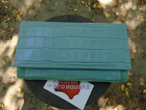 Ženski kožni novčanik 5 plavi kamen