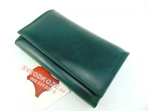 Ženski kožni novčanik Elegant zeleni