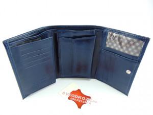 Ženski kožni novčanik Moderna plavi