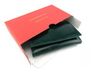 Ženski kožni novčanik Moderna tamno zeleni