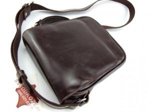 Kožna torba Leather tamno braon