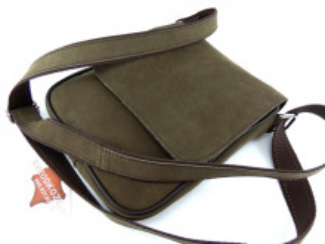 Muška kožna torbica 112 braon zelena brušena