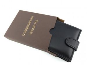 Muški kožni novčanik m4 crni sa kopčom