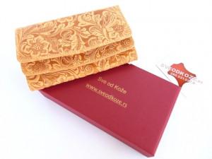 Ženski kožni novčanik 2 rustik reljef