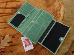Ženski kožni novčanik 5 zeleni art