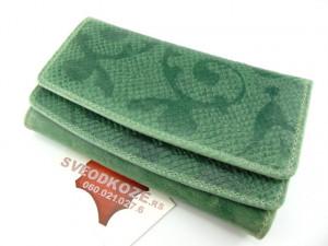 Ženski kožni novčanik 2 zeleni art