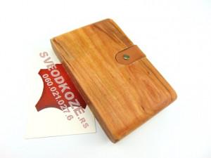 Drveni novčanik futrola šljiva Ranka viking