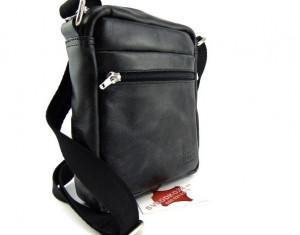 Kožna torbica sveodkože metalik CRNA