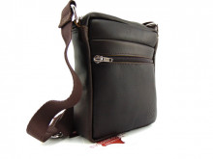 Kožna torbica sveodkože tamno braon