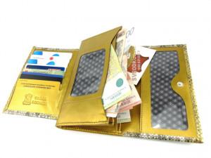 Kožni ženski novčanik Ekskluziv zlatni