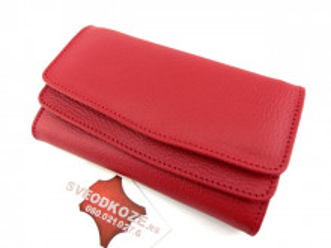 Ženski kožni novčanik 2 crveni reljef