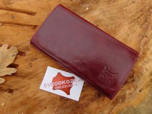 Ženski kožni novčanik 5 Bordo