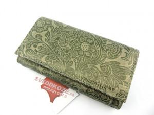 Ženski kožni novčanik 5 zeleni rustik