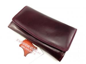 Ženski kožni novčanik 7 Bordo
