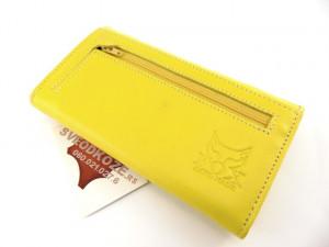 Ženski kožni novčanik 7 žuti