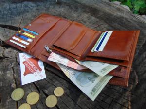 Ženski kožni novčanik Elegant braon klasik zmija