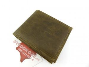 Muški kožni novčanik 5 zeleni bez kopče