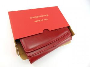 Ženski kožni novčanik 2 crveni ruž