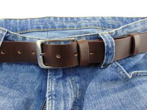 Kaiš od boks kože za pantalone i farmerice Brando bez štepova