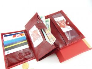 Kožni ženski novčanik Ekskluziv crveni koral
