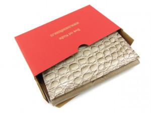 Kožni ženski novčanik Pariz bež koral
