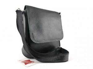 Muška kožna torbica 112 crna reljef