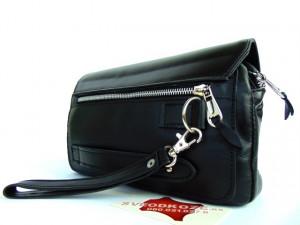 Velika ručna kožna torba crna
