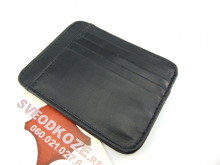 Veliki crni držač za kartice i novac (Big Black Leather Card Holder)