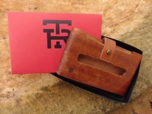 Drveni novčanik futrola Mahagoni viking