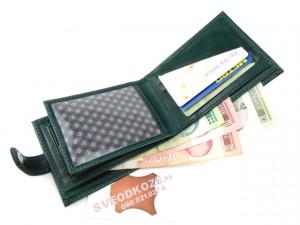 Kožni novčanik 6 tamno zeleni