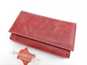 Kožni ženski novčanik Ekskluziv antik crveni