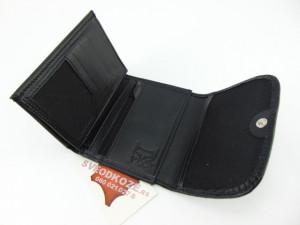 Mali ženski kožni novčanik crni kroko