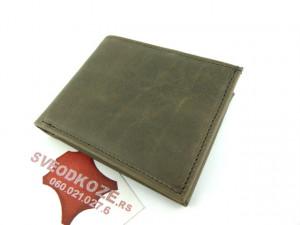Muški kožni novčanik 5 sivi bez kopčom