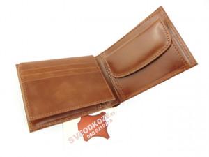 Tanki muški kožni novčanik sa dodatkom za kartice klasik braon