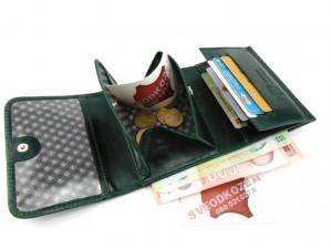 Zeleni ženski kožni novčanik Mini Mo