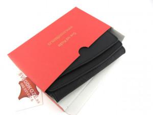 Ženski kožni novčanik 2 crni čipka