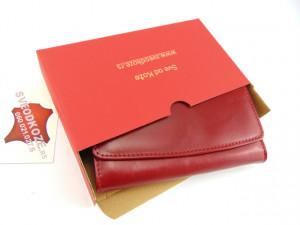 Ženski kožni novčanik 7 crveni ruž
