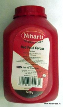 Poze Niharti Food Color Red 400 g