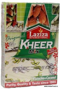 LAZIZA Kheer Mix - Pista & Coconut (Budinca Kheer de Vermicelli - fistic+fulgi de cocos) 155g