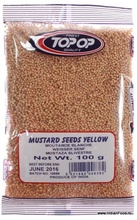 Top Op Mustard Seeds Yellow 100 g