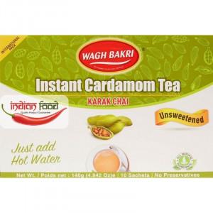 Wagh Bakri Instant Tea Cardamom Un-Sweeted (Ceai Instant - 10 pliculete) 140g