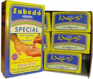 Zubeda Mehendi Henna Powder (Henna Pudra Rosu Zubeda) 90g